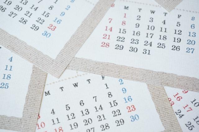 カレンダー 手帳 祝日 変更